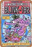 TarSign Blink-182 Traditional Vintage Tin Sign Logo 12 8 Advertising Eye-Catching Wall Decoration