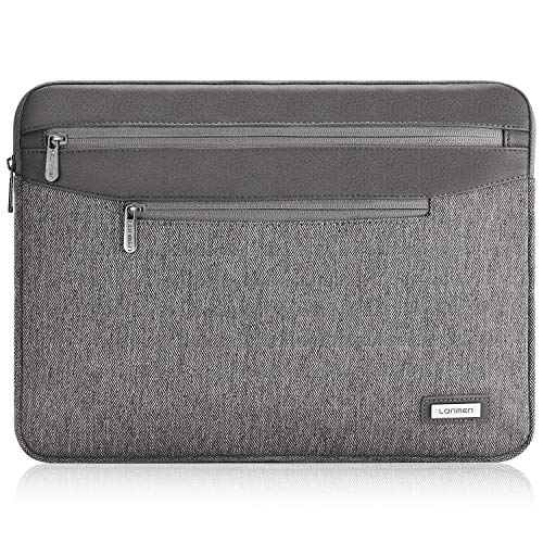 LONMEN Water Resistant 9.7-10.5 Inch Laptop Sleeve Protective Case for 9.7' 10.5' 11' iPad Pro Air / 10.2' iPad /10' Microsoft Surface Go / 10.5' Samsung Galaxy Tab A S4,Grey