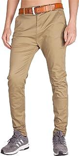 Pantalones Chinos Hombre Slim Fit Algodón Pantalon Chino de Trabajo 26 Colores