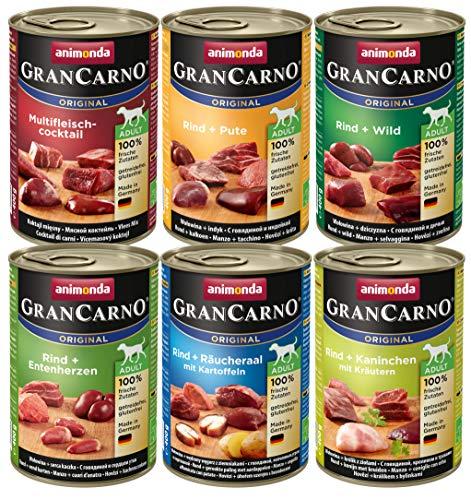 animonda Gran Carno adult Hundefutter, Nassfutter für erwachsene Hunde, Mix 2,  6 x 400 g