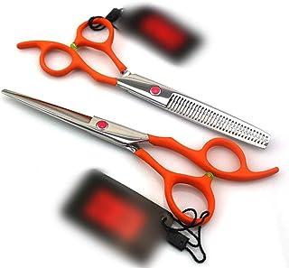 CHENyuan Tijeras Profesionales para Cortar el Cabello, de 6.0 Pulgadas, de Color Naranja,