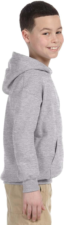 Heavy Blend Hooded Sweatshirt (G185B) Grey, L (Pack of 12)