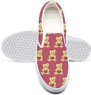 Christmas Koala Teddy Bear Flat Shoes Low top Slip on for Girl's
