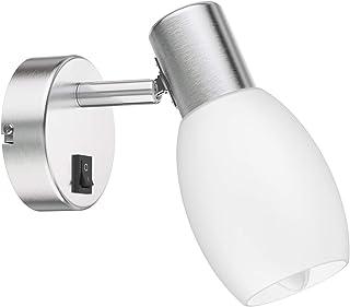 ledscom.de Lámpara de pared LUPI con interruptor, una sola llama incl. E14 Vela LED 6W =40W 450lm 270° blanco-cálido