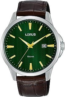 ساعة بسوار جلدي عصري للرجال من لوروس، RH923MX9
