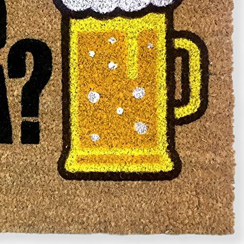 KOKO DOORMATS felpudos Entrada casa Originales, Fibra de Coco y PVC, Felpudo Exterior Has traído Cerveza?, 40x60x1.5 cm   Alfombra Puerta Entrada casa Exterior   Felpudos Divertidos para Puerta