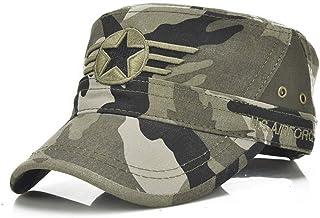 cc5652358bc31 VISER Unisexe mélange de coton militaire casquette de baseball lavé armée  Vintage chapeau plat cadet simple