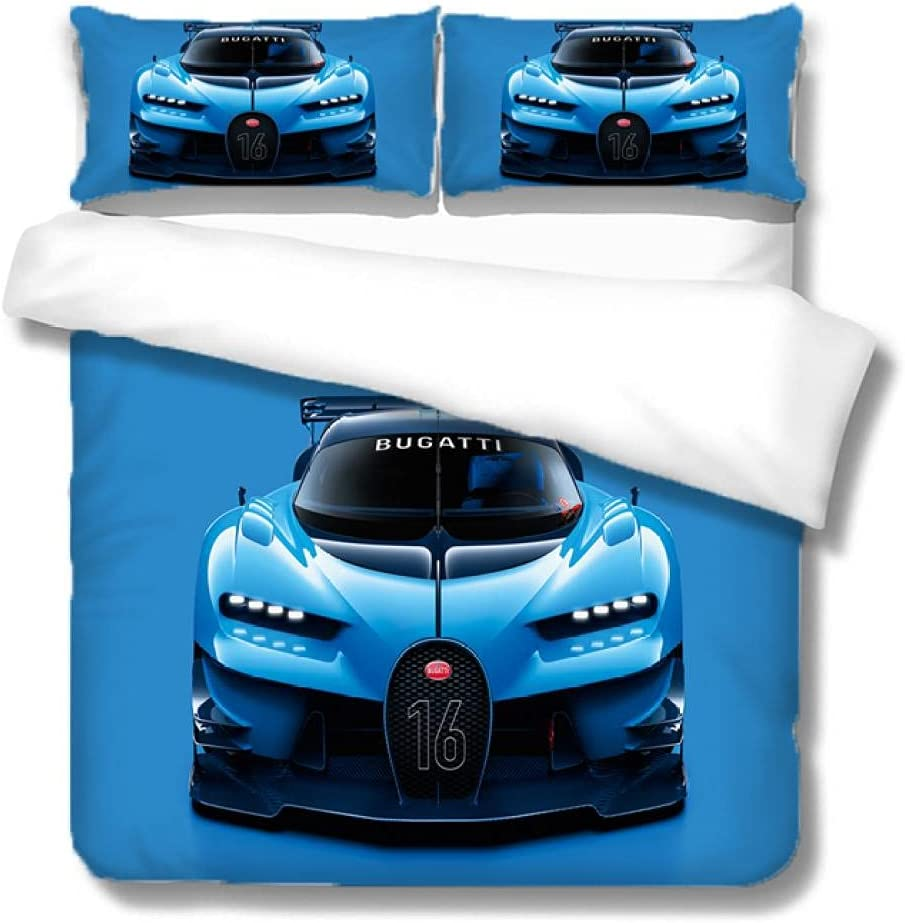 WDMXNZ Bedding Sets 3D Printed Blue Sports C Quilt Set Car for Max 61% OFF Very popular!