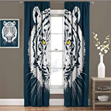 GUUVOR Tiger Blackout Curtain Aggressive Giant Animal 2 Panel Sets W72 x L108 Inch