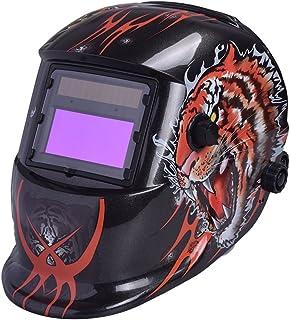 Haihuic Solar Powered Welding Helmet Auto Darkening Hood with Wide Lens, Adjustable Shade Range DIN 4/9-13 for TIG MIG MMA...