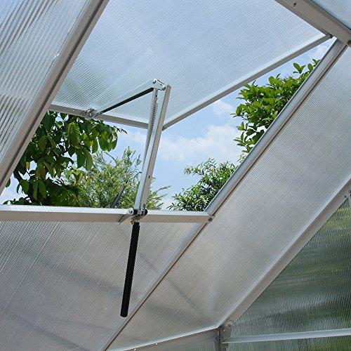 Benkeg Abridores de Ventana para invernaderos, Abridor de Ventana Abridor de ventilación Abridor de ventilación automático con un Solo Resorte Invernadero Ventanilla