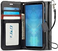 جراب J&D متوافق مع Galaxy A7 2018 ،[حامل محفظة] [مقاس نحيف] جراب محفظة قلاب واقٍ مقاوم للصدمات شديد التحمل لهاتف Samsung Galaxy A7 (RBUDin 2018) محفظة اسود