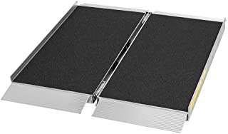 Silver Spring 3' L Portable Single-Fold Aluminum Wheelchair and Scooter Ramp with High-Traction Grit Coat Surface – 700 lb. Capacity