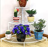 LQQGXL Iron flower racks multi - storey European - style balcony balcony staircase flower pots Flower stand