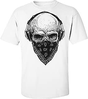 Melomania Skull with Headphones and Bandana Men's T-Shirt