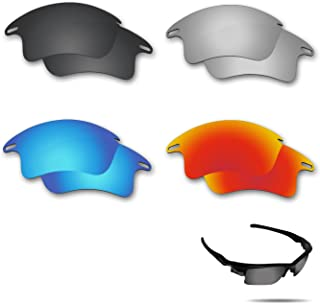 Polarized Replacement Lenses for Oakley Fast Jacket XL Sunglasses 4 Pairs Pack