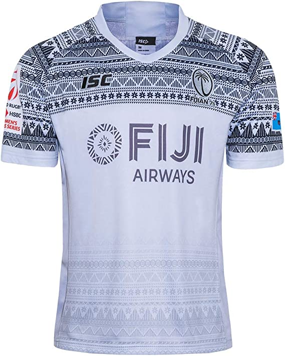 MalataMall 2020 Fiji Rugby Jersey Local Visitante Camiseta De Entrenamiento Actividades Diarias Deportes Manga Corta S-5XL
