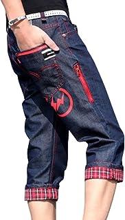 メンズ カジュアル ショートパンツ デニム ミディアムパンツ デニムしょーとパンツ