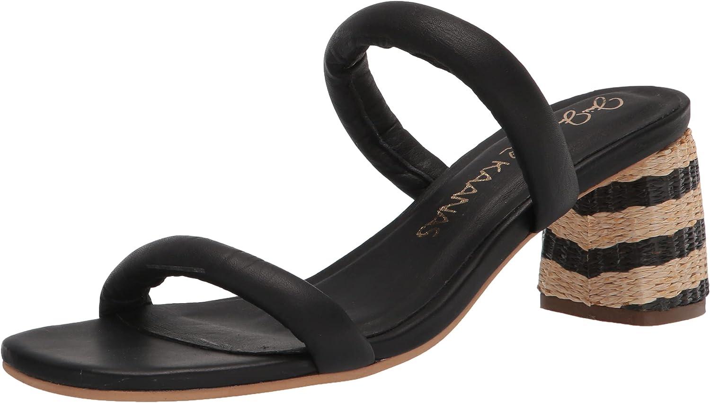 KAANAS Women's Jjd Turks Chunky Double-Band Heel Heeled Sandal