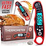 Alpha Grillers Instant Read Meat Thermometer for Grill and Cooking. Best Waterproof Ultra Fast...