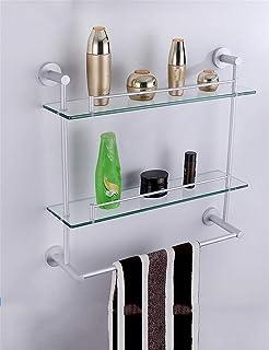 Shelf Space aluminum bathroom glass Basin Cosmetic rack Front Wall-mounted Storage shelf Shelf