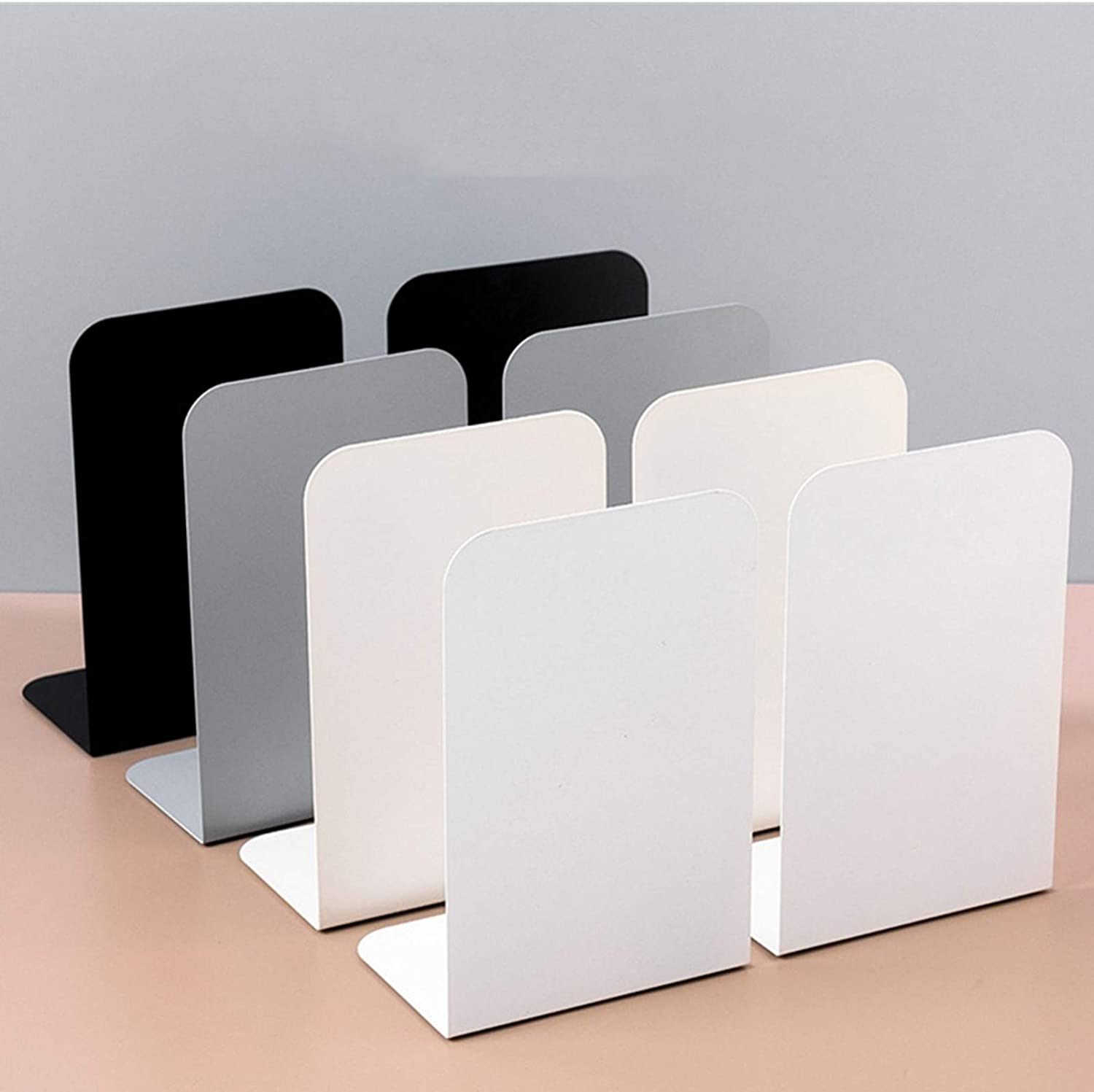 IEEK Bookends 4 Pairs 8 Pieces online shopping Ends for Max 46% OFF fo Book Shelves