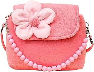Bullidea Kids Little Girl 's Shoulder Bag Beaded Handbag Cute Princess Package Coin Purse Velvet for Best Gift to 1-6 Year...