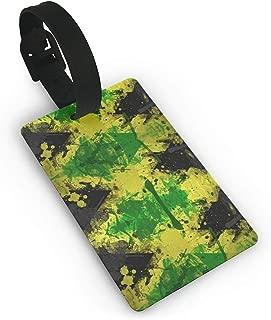 XHXInk Jamaica Flag Luggage Tag Initial Bag Tag Etag Holders PVC