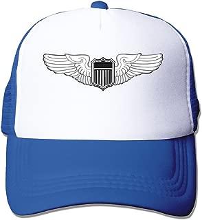 LKSJSADJ Pilot Badge Adjustable Hats Black