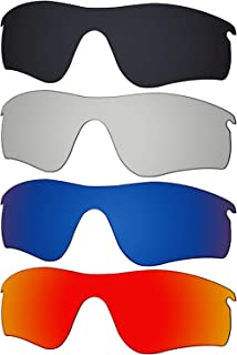 4 Pieces Replacement Lenses for Oakley RadarLock Path OO9181 Pack P01