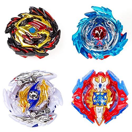 ANEAR Kampfkreisel Burst, Beyblade Burst 4D Fusion Modell Metall Masters Beschleunigungslauncher, 2 Launcher, 4 Stück Kampfkreisel, Battling Tops Kinder Spielzeug