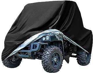 GES Heavy Duty Black Protects UTV 4 Wheeler Cover from Snow Rain, Hail, Dust, Snow, Sleet and Sun, Integrated Trailer System