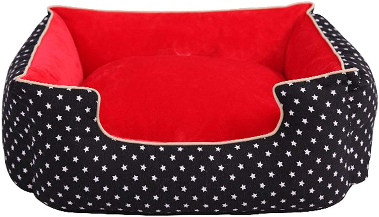 GCHOME Dog bed Dog Bed,Washable Removable Cat Bed Cat Nest,Waterproof Breathable Nonslip Warm Cushion Dog Sofa Indoor Medium Pet Nest (color   BLACK, Size   S)