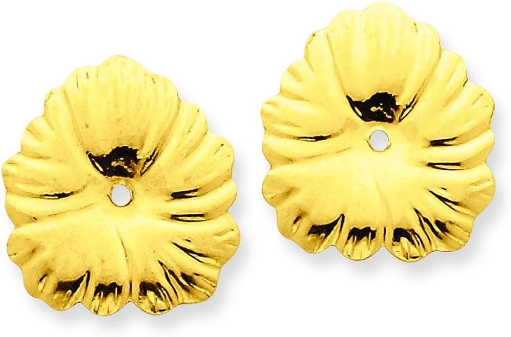 14K Yellow Gold Fancy Earring Jackets Jewelry