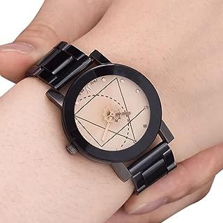 ETbotu Fashionable Lovers Quartz Watch with Steel Watchband Stylish Wristwatch Ornament Gift