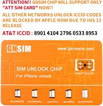 GNSIM PREMIUM CHIP AUTO v12.4.x Compatible with iPhone XR/XS MAX, Unlock AT&T, Verizon, Sprint, T-Mobile, Xfinity, Boost, Cricket to Any GSM Networks. Does NOT Support Sprint/ Verizon Sim Cards