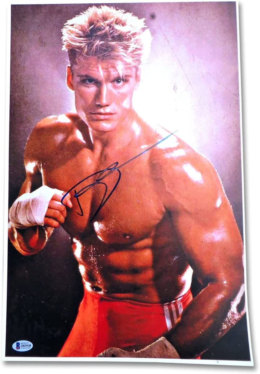 Dolph Lundgren Signed Autographed 12X18 Photo Ivan Drag Large discharge sale Max 60% OFF IV Rocky