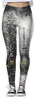 Yoga Leggings Pants Eiffel Tower Oil Painting Sport Tights Stretchy Pants