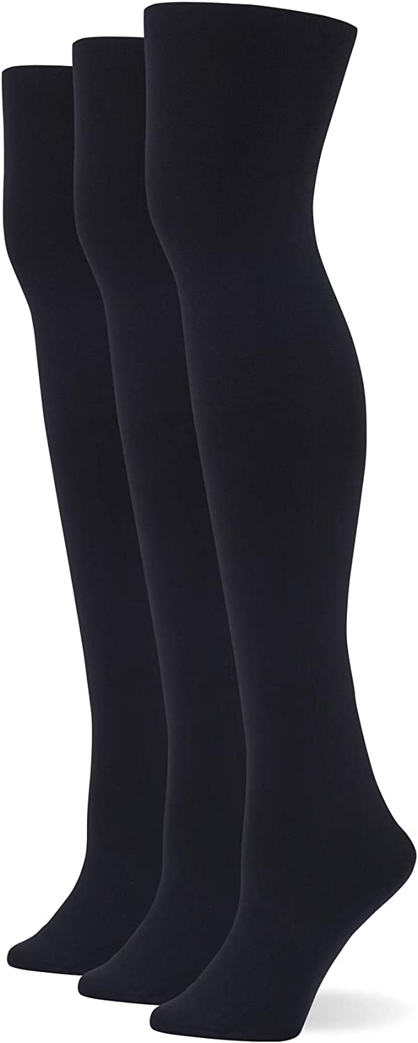 No Nonsense womens Great Shapes Control Top Blackout Shaping Tight, 3 Pair Pack