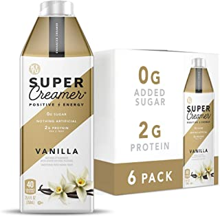 Kitu Super Creamer, SugarFree Coffee Creamer (0g Sugar, 2g Protein, 40 Calories) [Vanilla] 25.4 Fl Oz, 6 Pack | Keto Coffe...