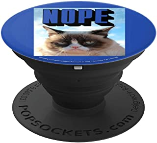 Grumpy Cat Nope Blue Poster PopSockets Grip and Stand for Phones and Tablets
