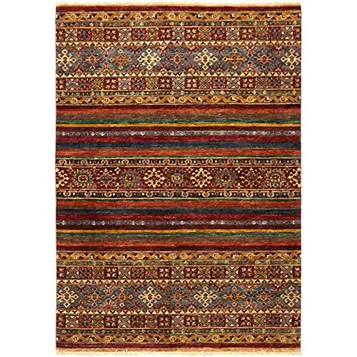 Solo Rugs Azeri Hand Knotted Area Rug, 4' 1