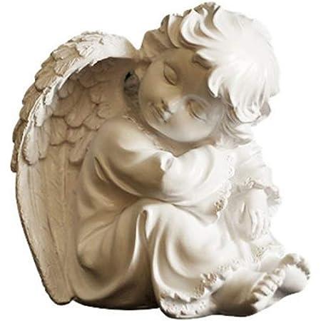 ~❤️~CHERUB Praying ANGEL Statue Ceramic Resin Large White Figurine 27cms❤️~