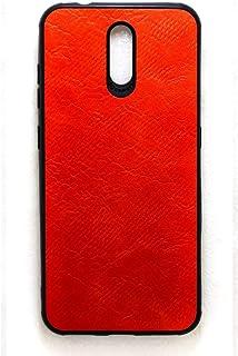جراب جلد خلفي لهاتف نوكيا 2.3 - احمر