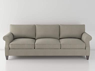 Three Seater Sofa Made with Wood and Plywood Polyster Fabric