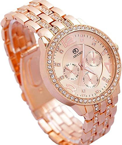 Analogue Women s Girl s Watch Gold Dial Brown Colored Strap