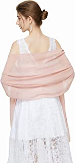 Soft Chiffon Scarves Shawls and Wraps for Women Silky Pashmina Scarf for Wedding Bridal