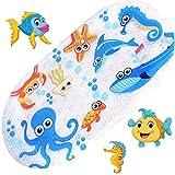 Anlass kids cartoon non-slip mats, mildew-resistant non-slip mats for children. Octopus