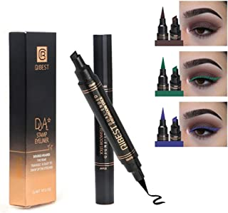 High Pigmented Colorful Liquid Eyeliner Stamp Set,Dual Ended Liquid Eye Liner Pen,Smudgeproof,Waterproof Long Lasting Long Lasting Makeup Tool 3 Colors (Brown/Green/Blue)