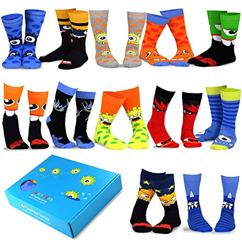 TeeHee Special (Holiday) 12-Pairs Socks with Gift Box (9-11, Fun Halloween-A)